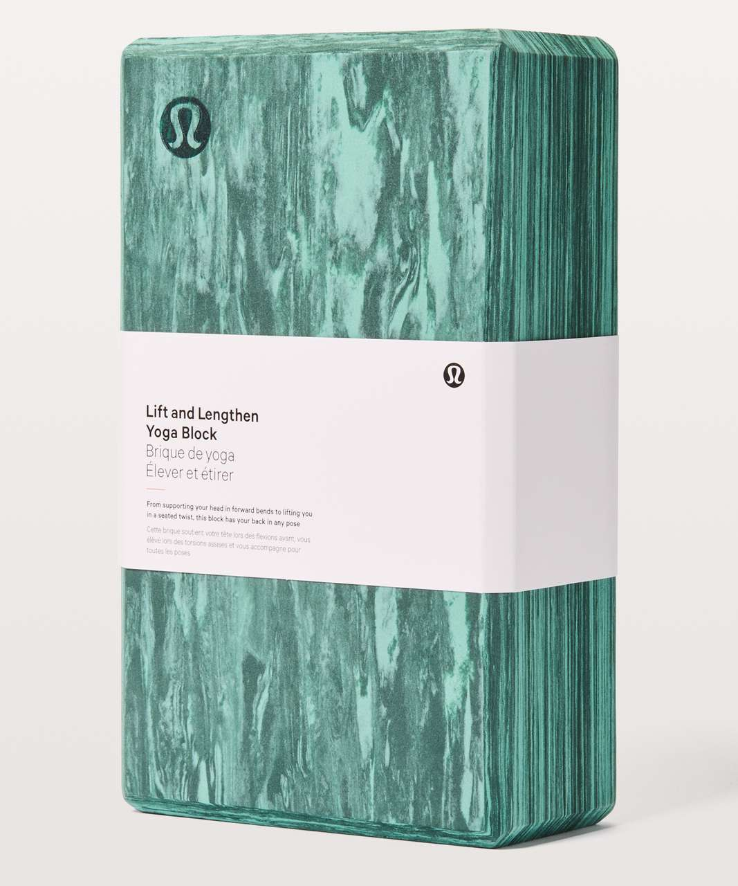 Lululemon Lift & Lengthen Yoga Block - Rip Tide / Sea Steel
