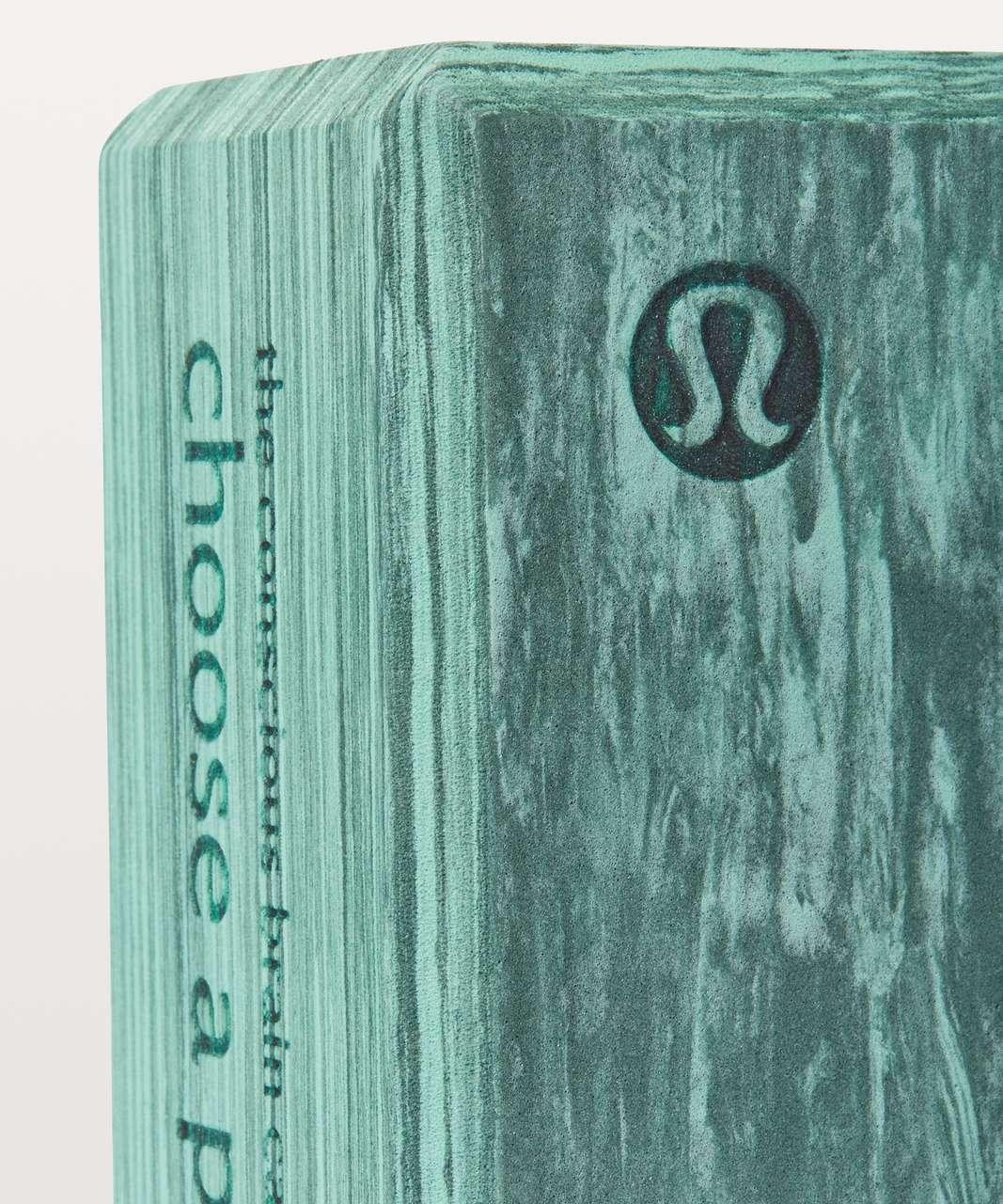 Lululemon Lift & Lengthen Yoga Block - Rip Tide / Sea Steel