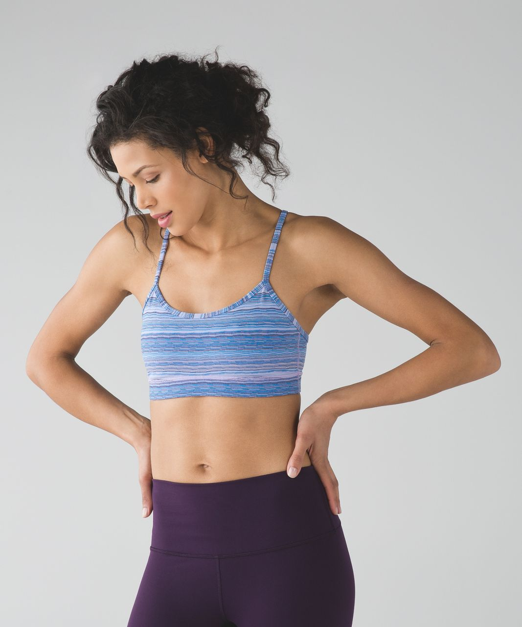 Lululemon Flow Y Bra IV - Wave Twist Lilac Caspian Blue