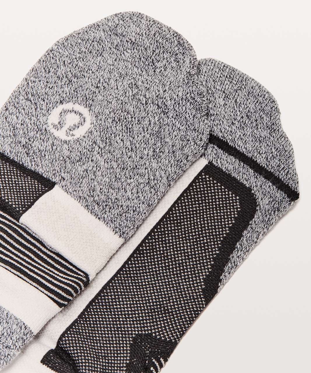 Lululemon Speed Sock *Silver - Black / White