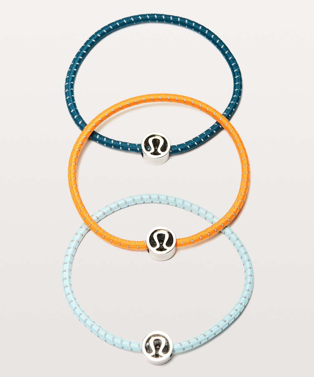 Lululemon Glow On Hair Ties - Blue Glow / Vivid Amber / Pacific Teal