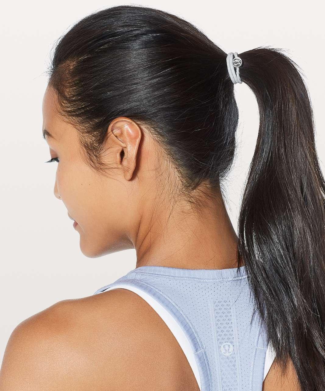 Lululemon Glow On Hair Ties - Black / Nebula / Silver Fox