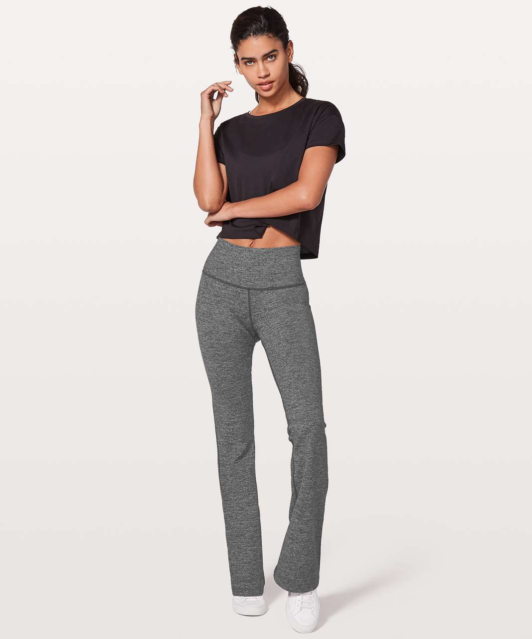 "Lululemon Throw Back Pant *32.5"" - Heathered Black"