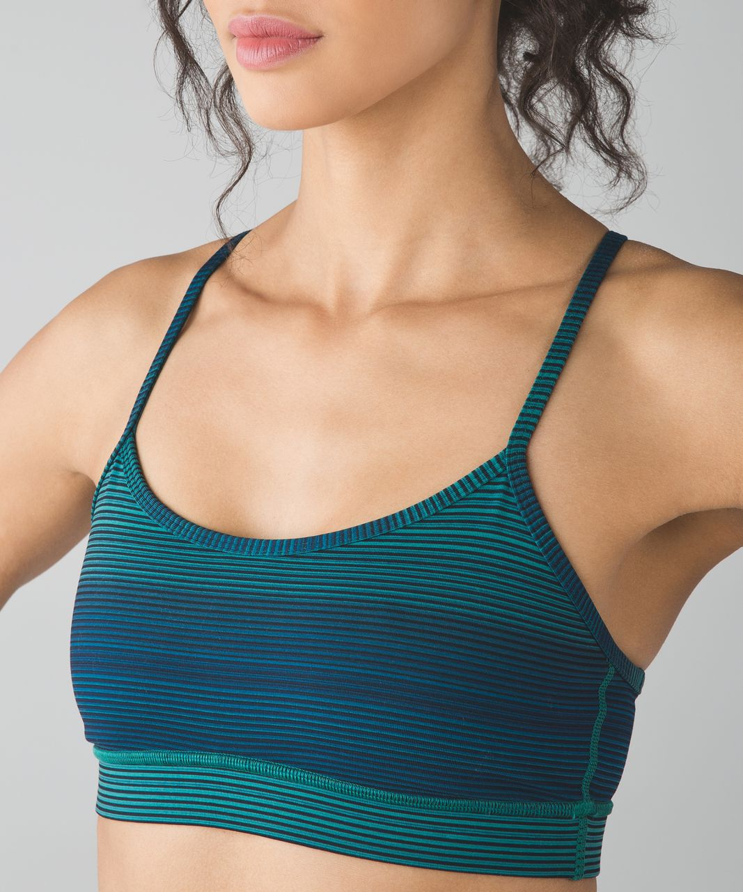 21eb7b4b88 Lululemon Flow Y Bra IV - Simply Radiant Hunter Green Black - lulu fanatics