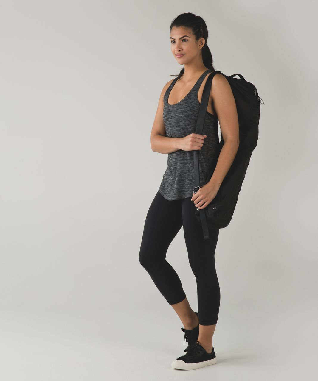 Lululemon Salute the Sun Singlet II - Heathered Black