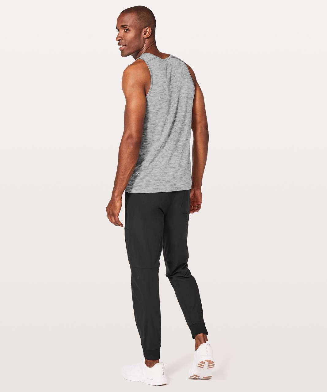 Lululemon Metal Vent Tech Tank - Slate / White
