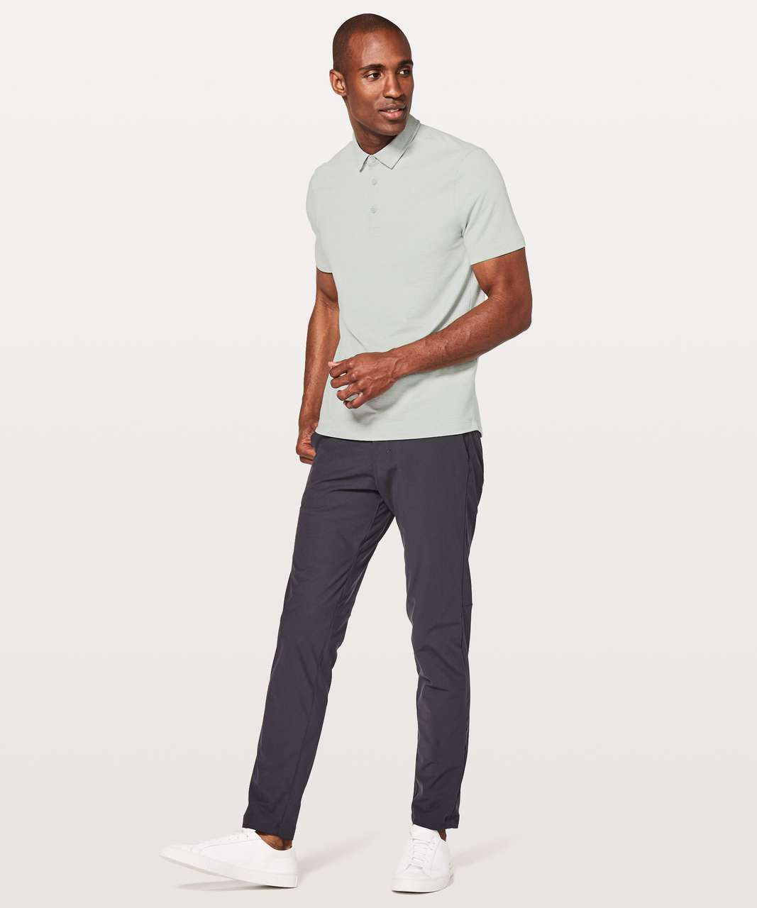 Lululemon Evolution Polo - Heathered Sea Salt