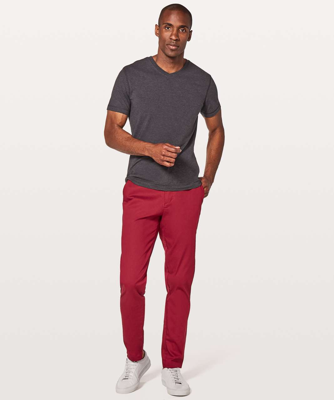 "Lululemon Commission Pant Classic *Swift Cotton 34"" - Oxblood"