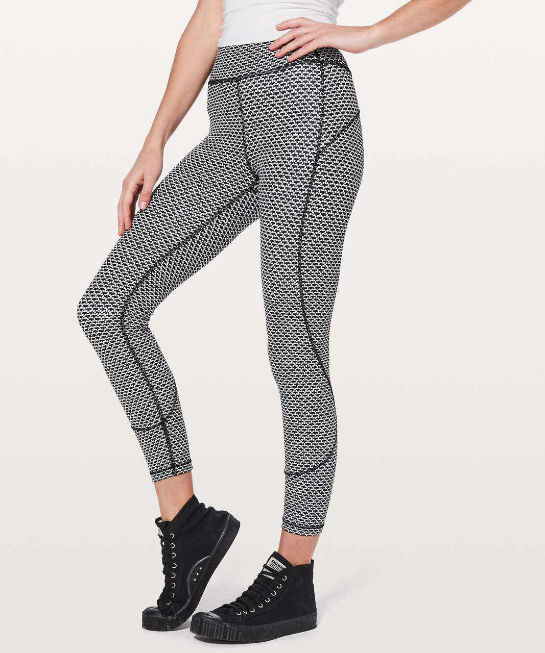 "Lululemon In Movement 7/8 Tight *Everlux 25"" - Monochromic Black"