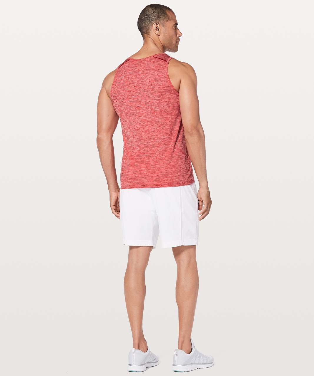 Lululemon Metal Vent Tech Surge Tank - Bold Red / White