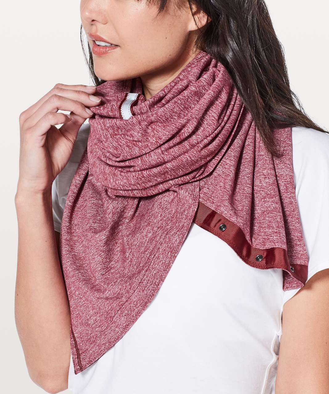 Lululemon Vinyasa Scarf *Rulu - Heathered Ruby Wine