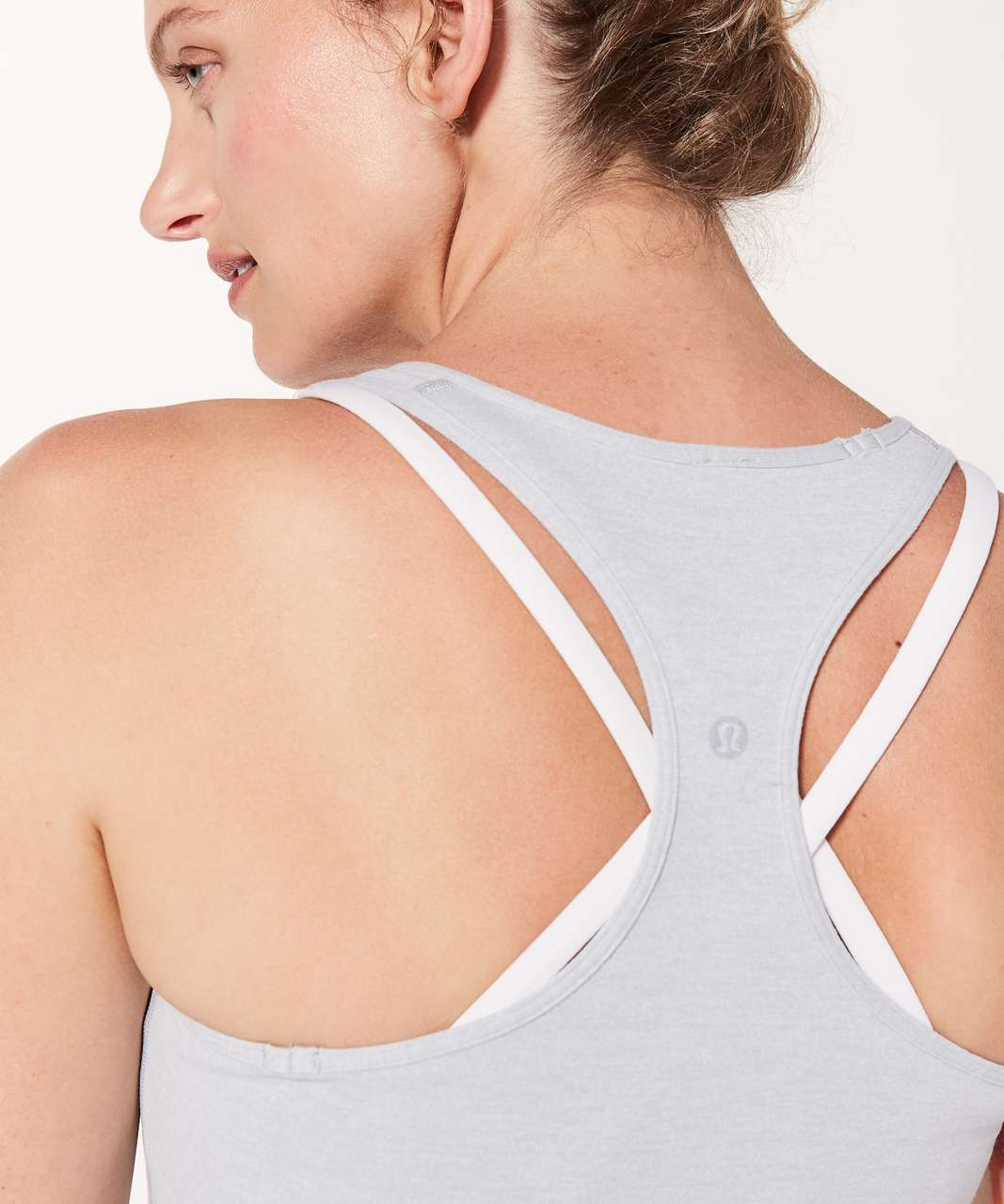 Lululemon Cool Racerback - Heathered Cool Cloud