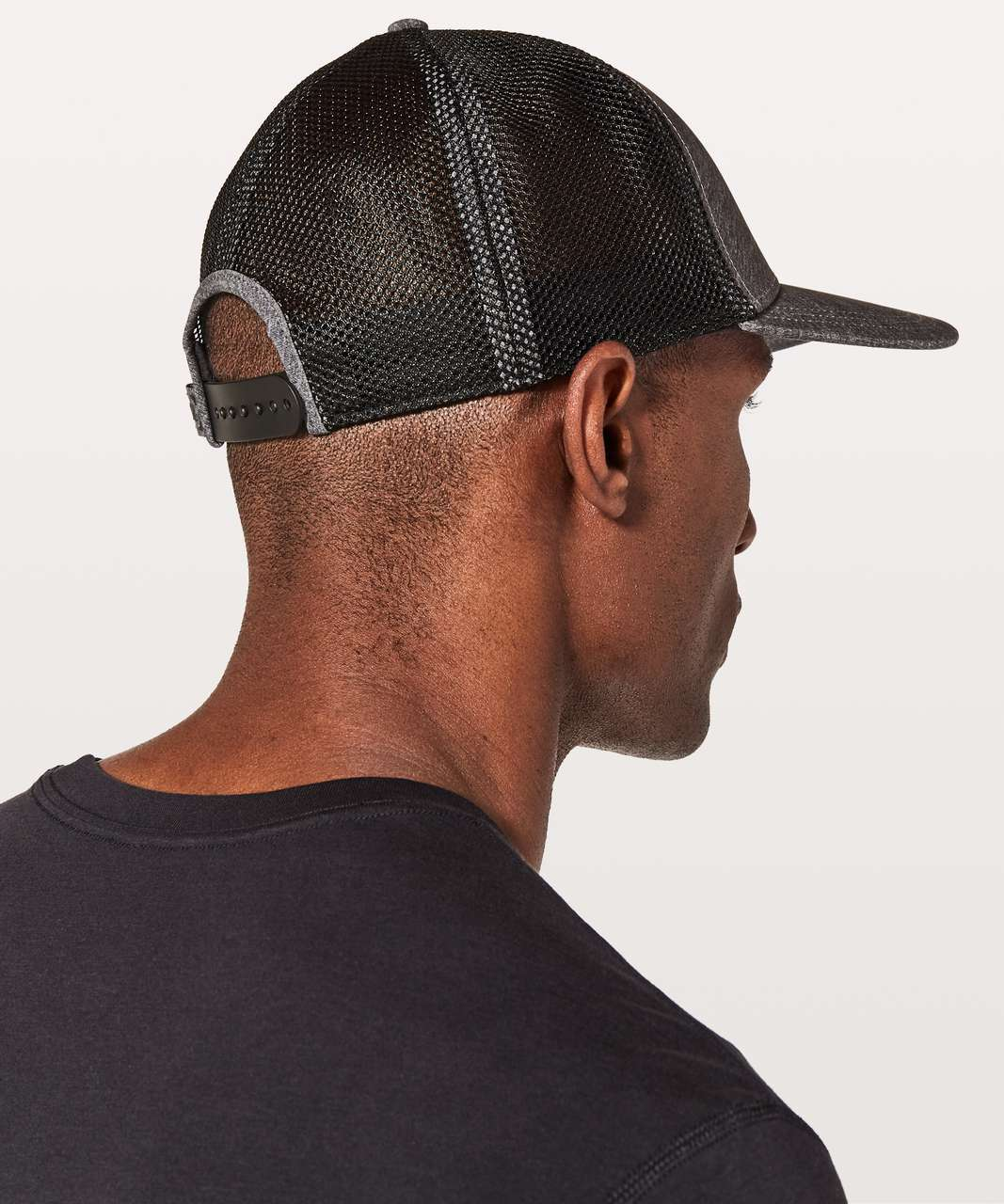 Lululemon Commission Hat - Heathered Texture Printed Greyt Deep Coal / Black