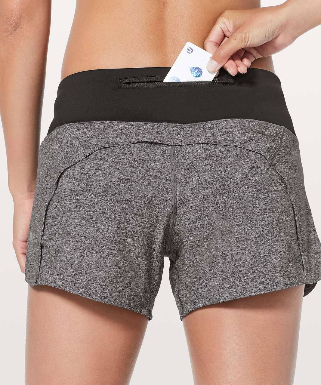 "Lululemon Run Times Short II *4"" - Heather Lux Multi Black / Black (First Release)"