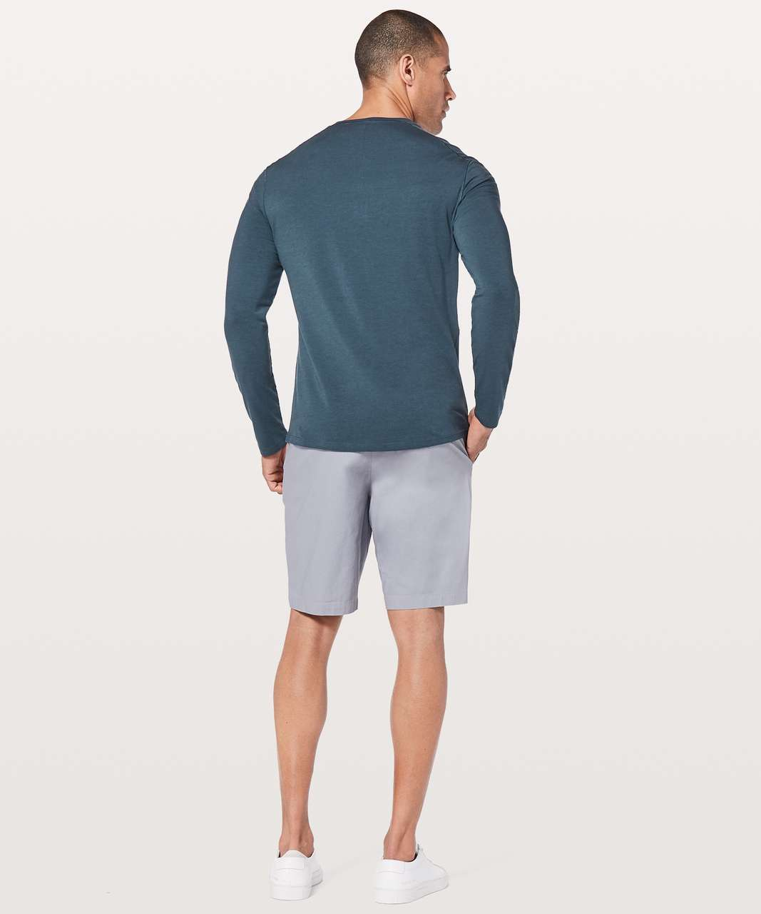 Lululemon 5 Year Basic Long Sleeve Henley - Mach Blue