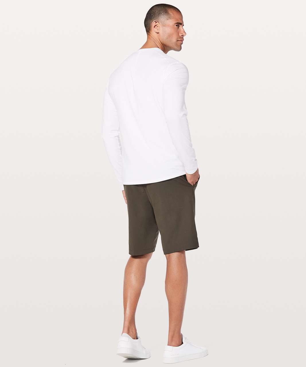 Lululemon 5 Year Basic Long Sleeve Henley - White