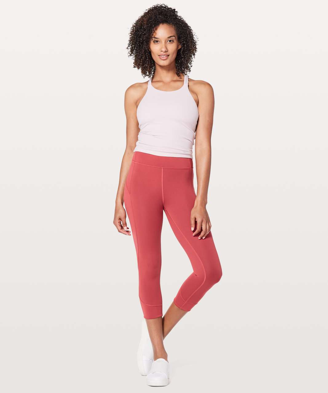 "Lululemon In Movement Crop *Everlux 19"" - Vintage Rose"