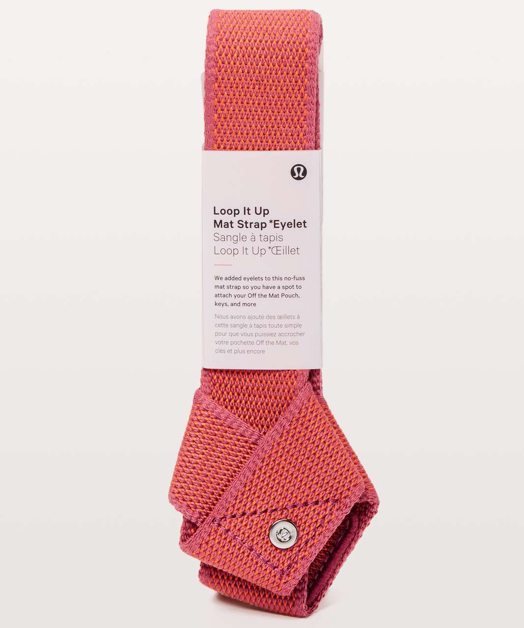Lululemon Loop It Up Mat Strap *Eyelet - Cherry Dust / Orange Flash
