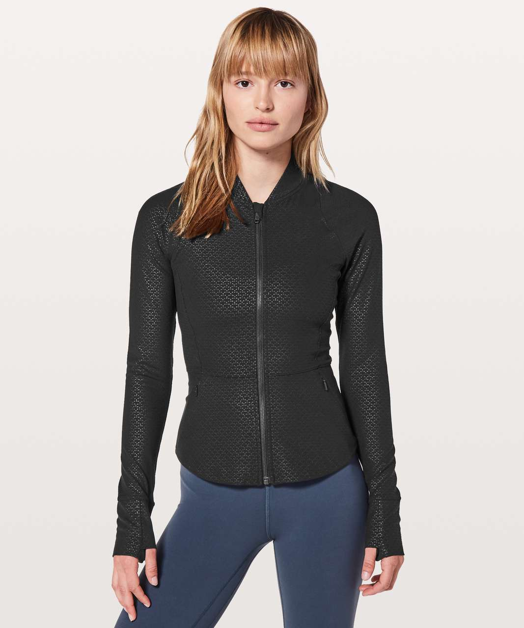 Lululemon The Ease Jacket - Monochromic Black Emboss