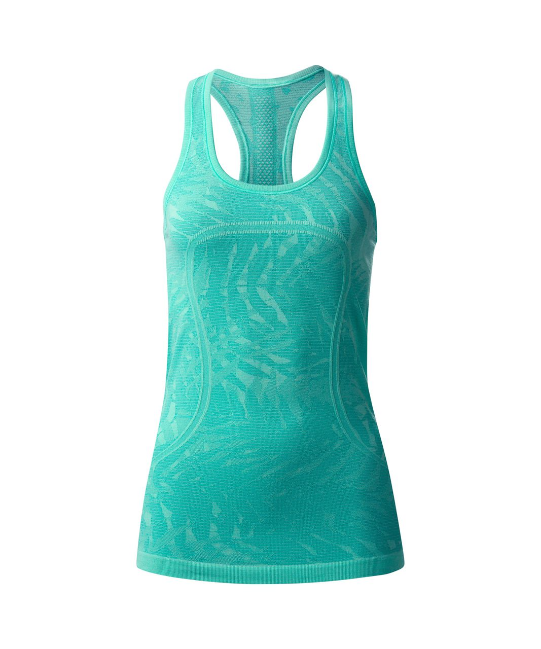 Lululemon Swiftly Tech Racerback - Heathered Bali Breeze (Print)