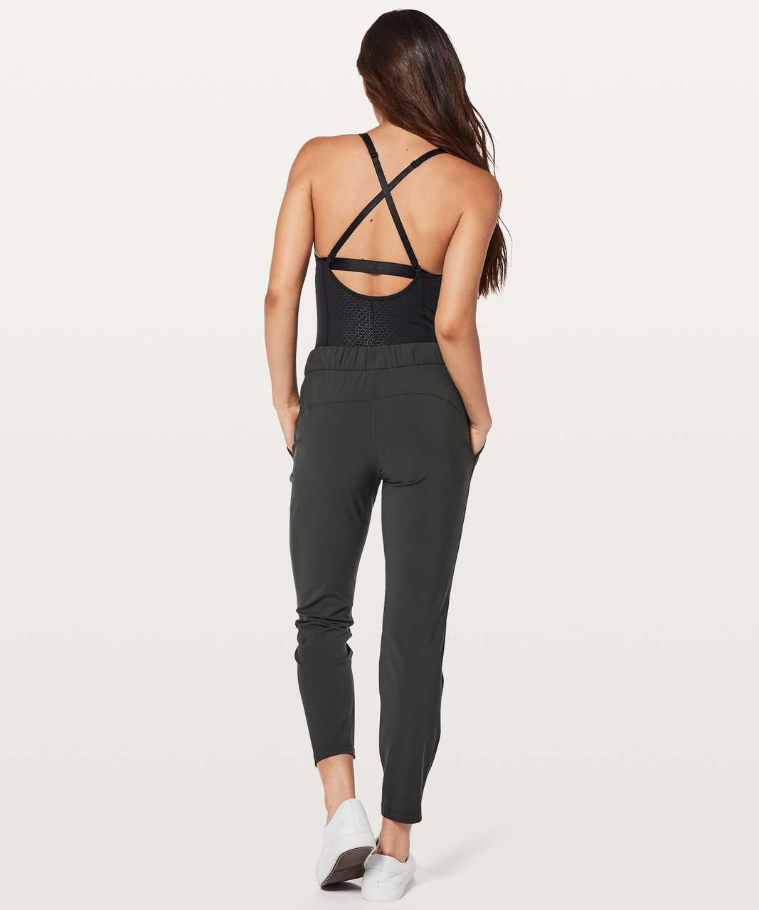 Lululemon The Easy Bodysuit - Monochromic Black Emboss