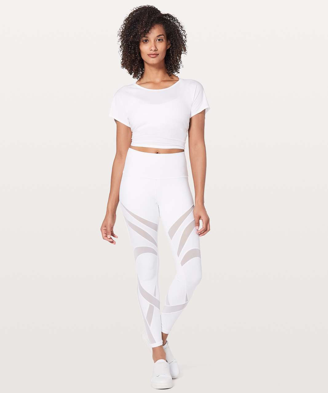 "Lululemon Wunder Under Hi-Rise Tight *Mesh 28"" - White"