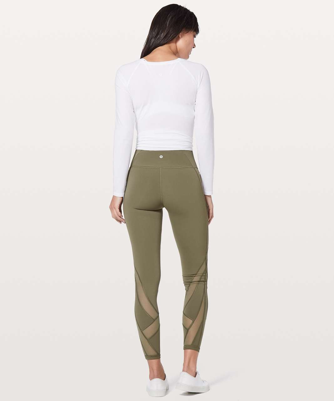 "Lululemon Wunder Under Hi-Rise Tight *Mesh 28"" - Sage"