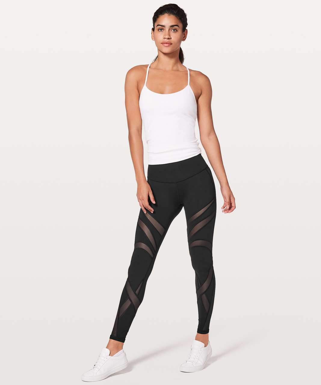 "Lululemon Wunder Under Hi-Rise Tight *Mesh 28"" - Black"
