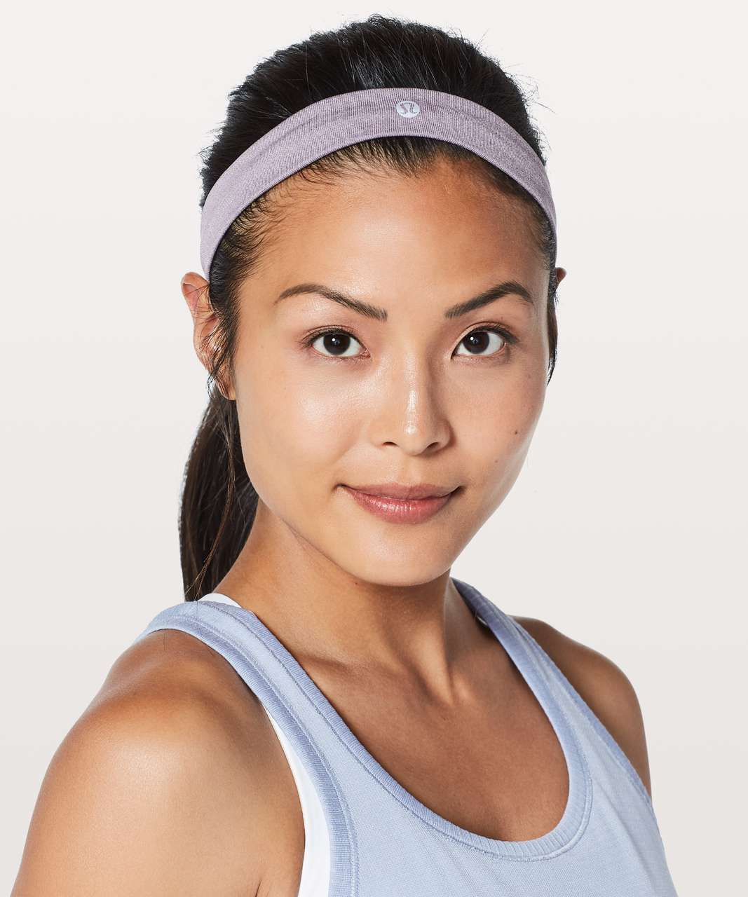 Lululemon Cardio Cross Trainer Headband - Smoked Mulberry / White