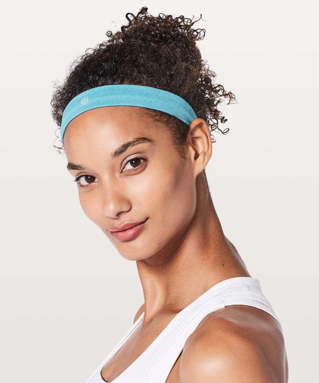 Lululemon Cardio Cross Trainer Headband - Teal Blue / White