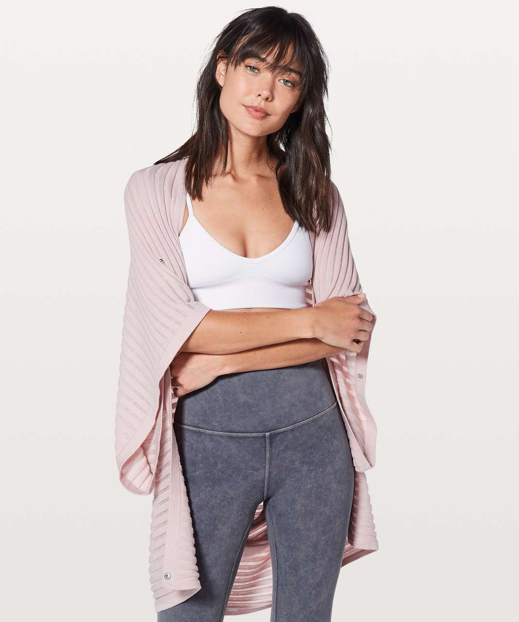 Lululemon Rejuvenate Wrap *Transformational (Stripe) - Misty Pink