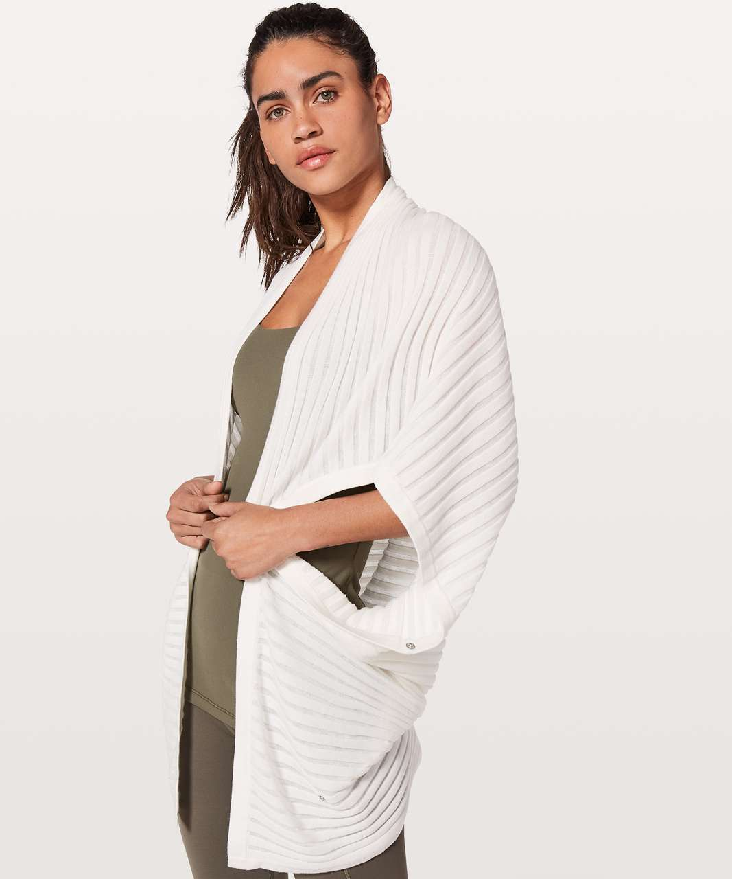 Lululemon Rejuvenate Wrap *Transformational (Stripe) - White