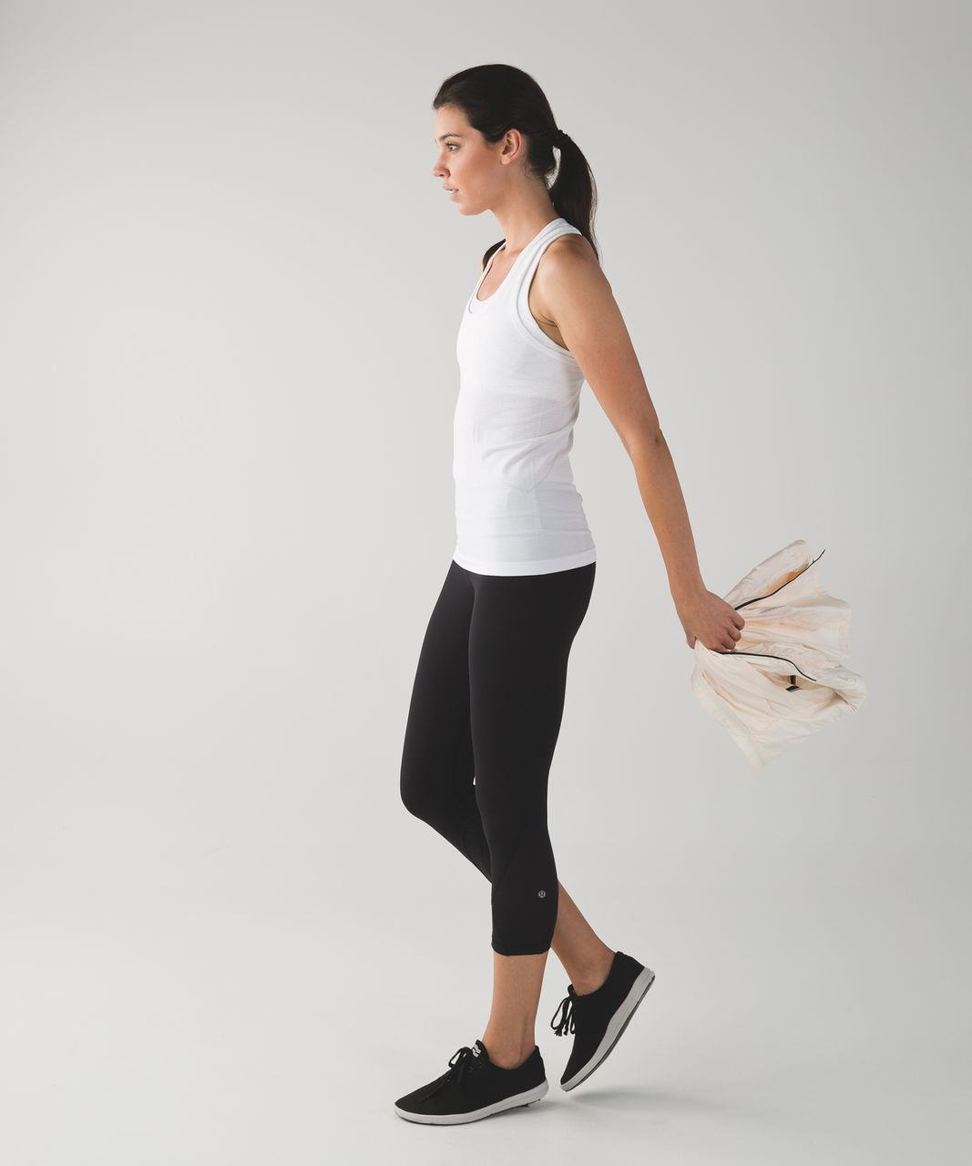 Lululemon Swiftly Tech Racerback - Heathered White