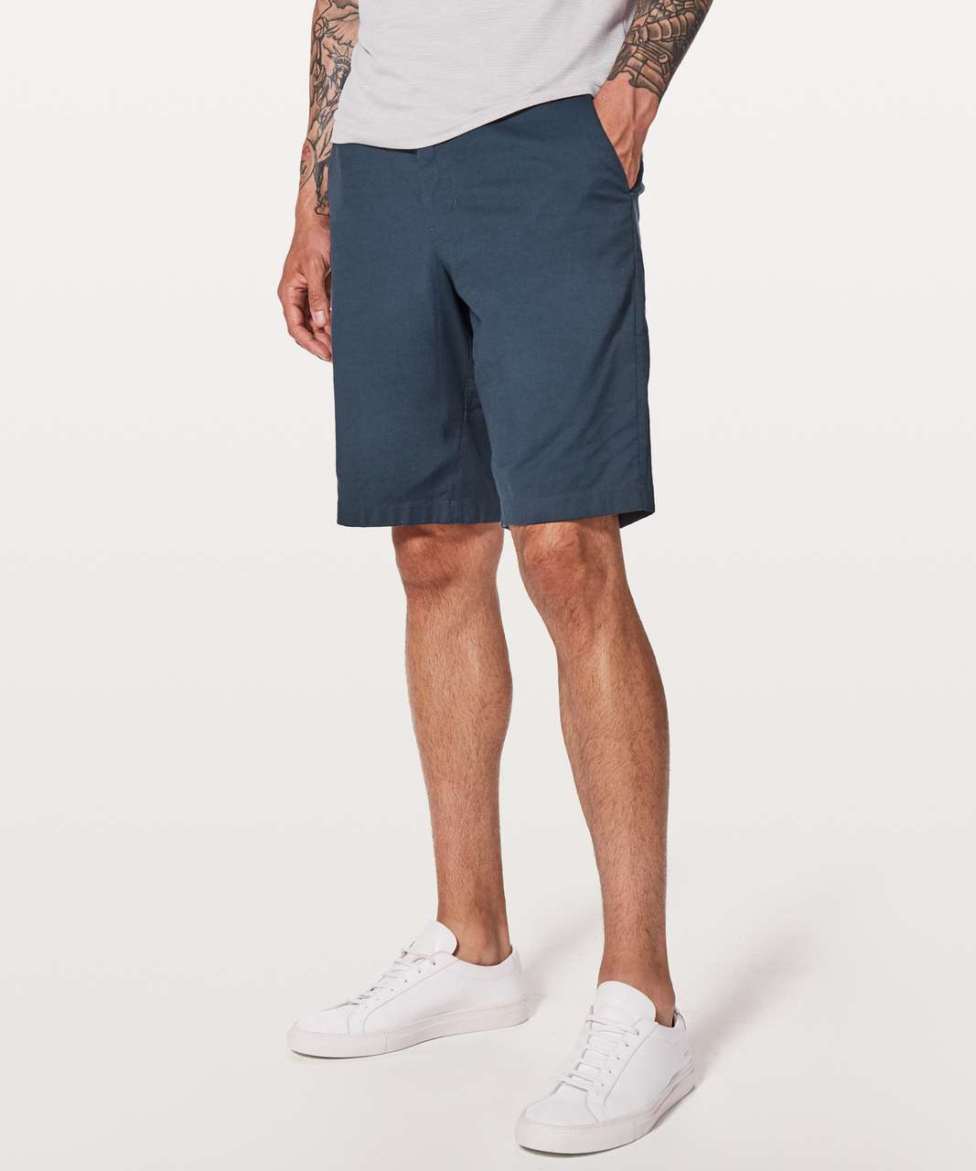 "Lululemon Commission Short Relaxed *Qwick Oxford 11"" - Mach Blue / True Navy"