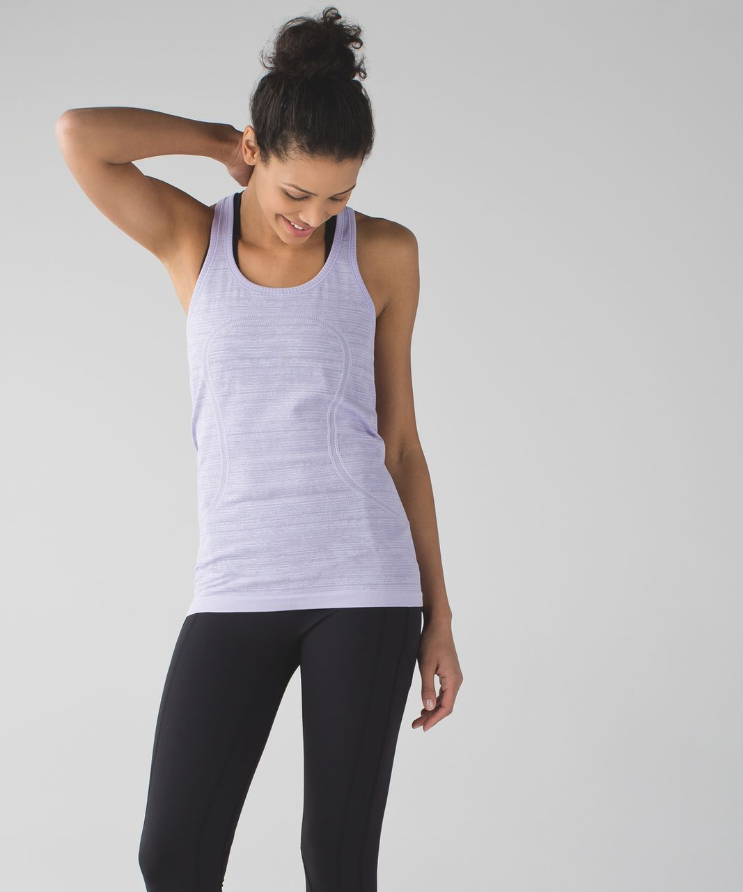 Lululemon Swiftly Tech Racerback - Heathered Lilac (Striped)