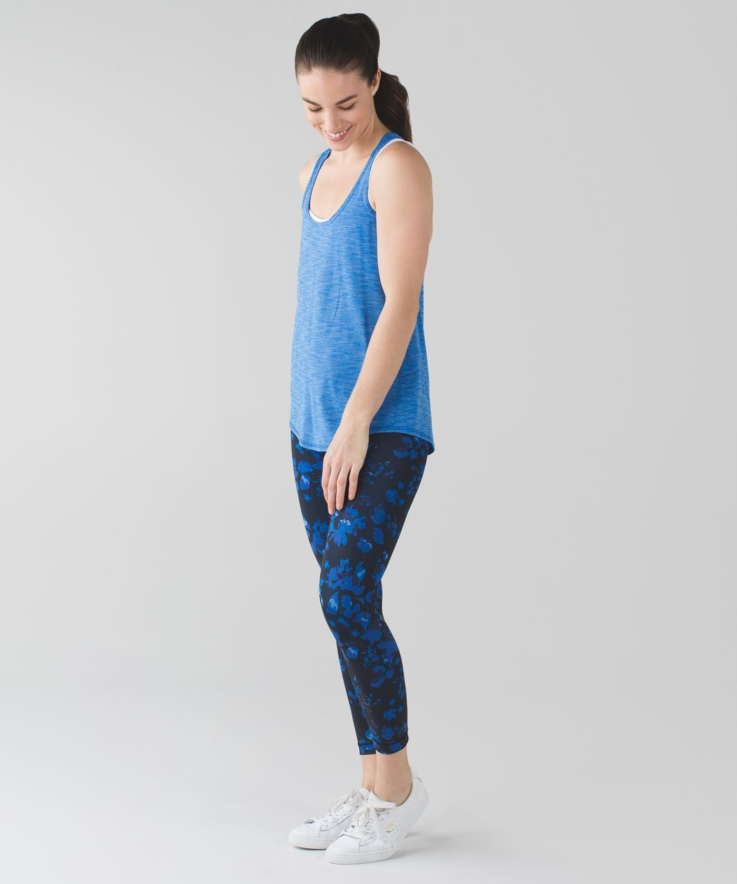 Lululemon Salute the Sun Singlet II - Heathered Lakeside Blue