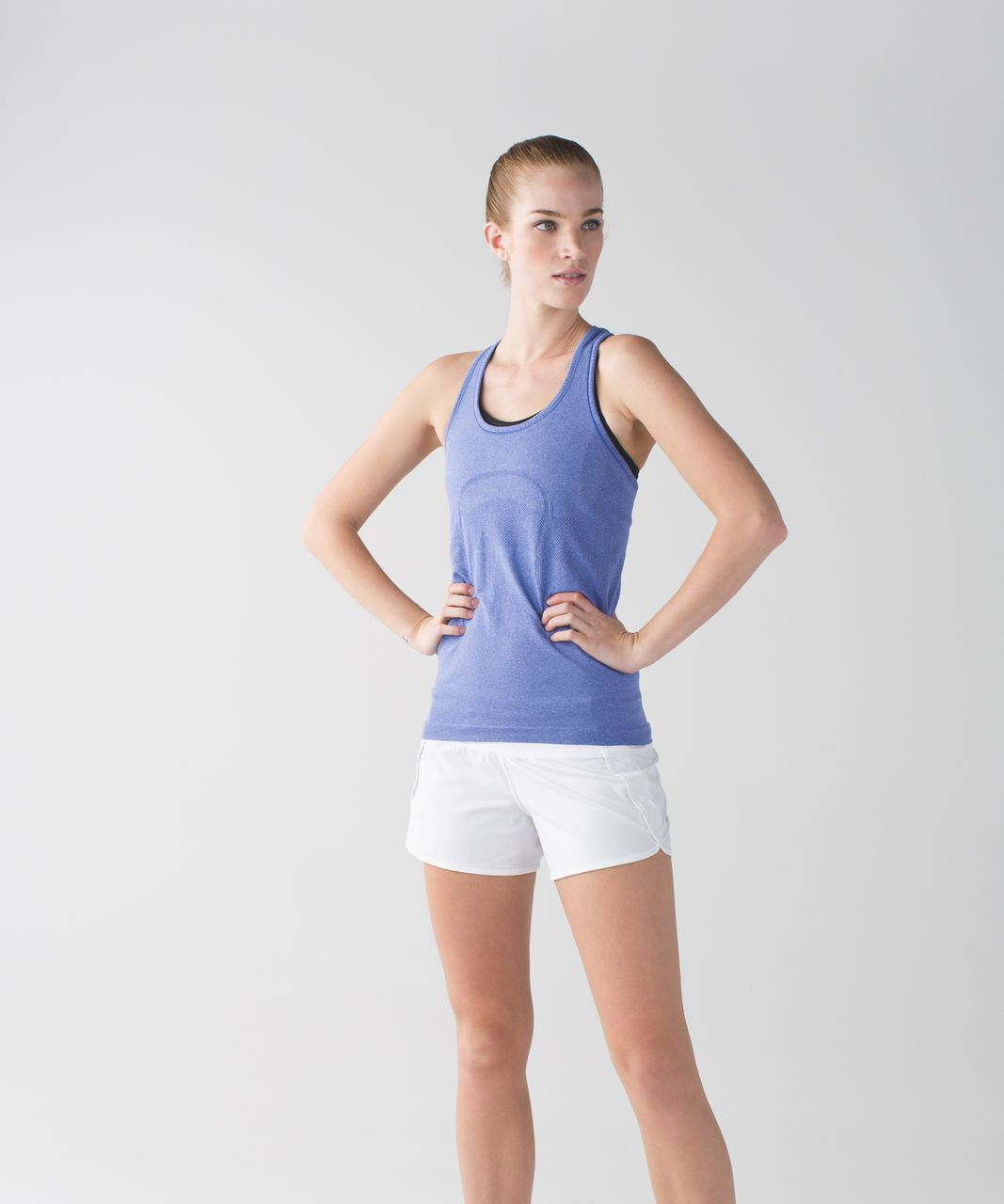 Lululemon Swiftly Tech Racerback - Heathered Sapphire Blue