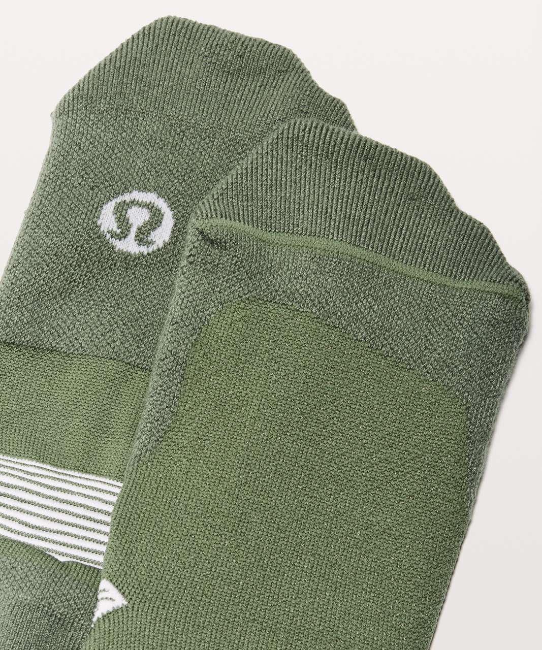 Lululemon T.H.E. Sock *Silver - Green Twill / White