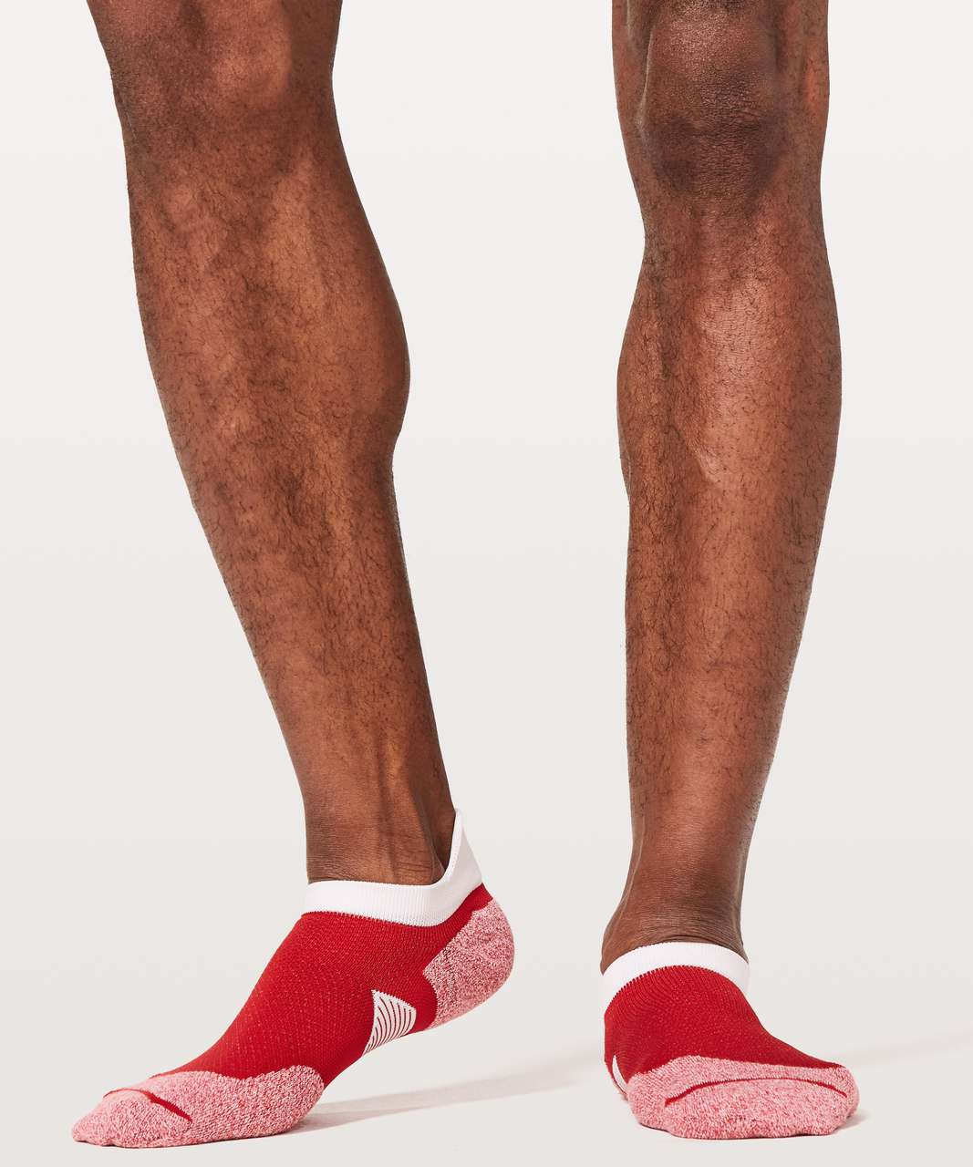 Lululemon T.H.E. Sock *Silver - Bold Red / White