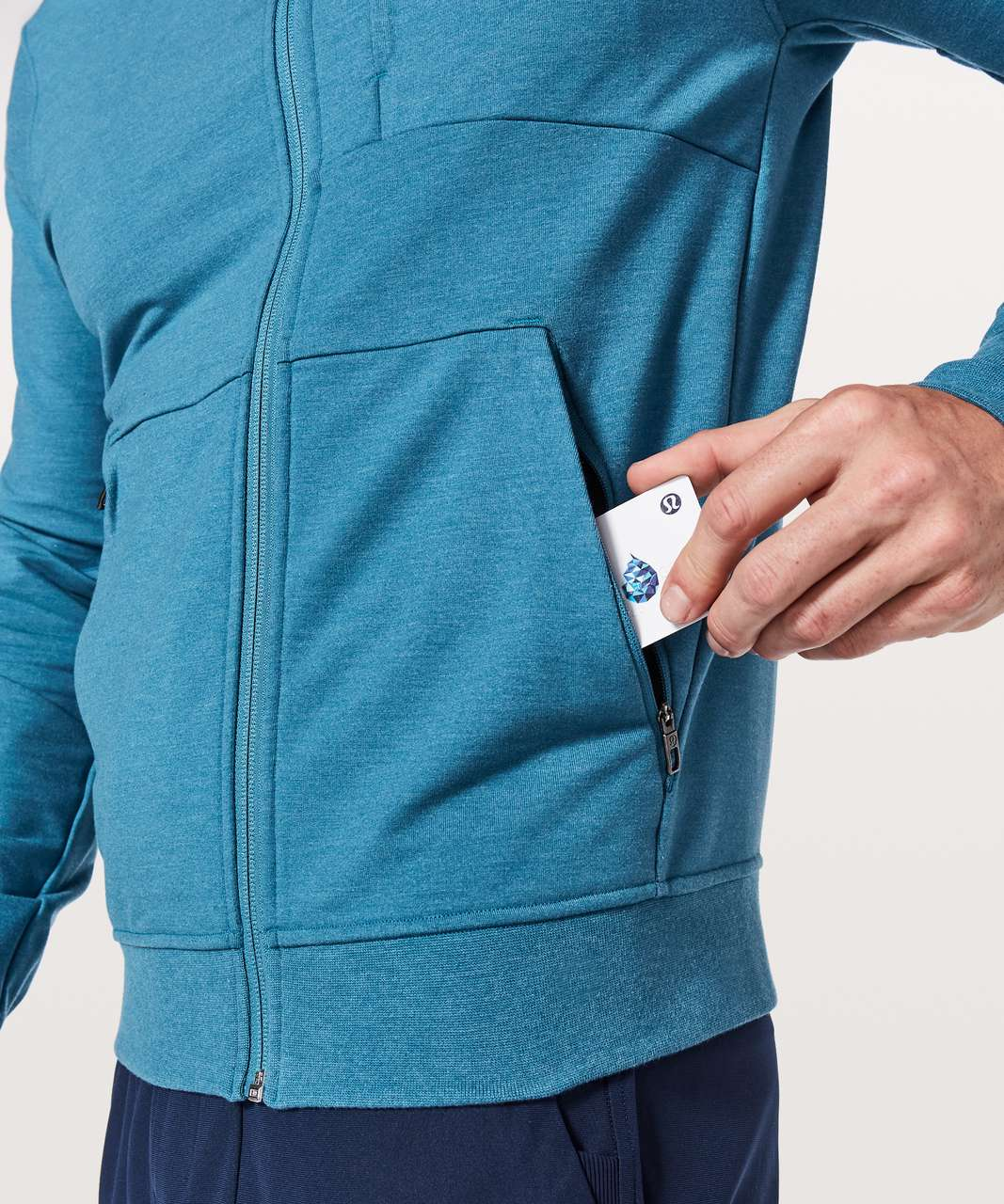 Lululemon City Sweat Zip Hoodie - Heathered Pewter Blue