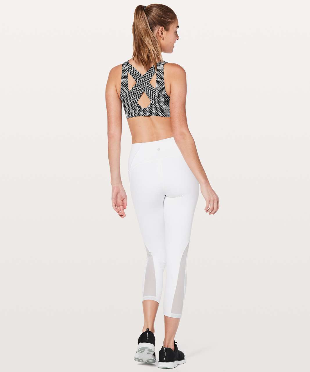 Lululemon Enlite Bra - Monochromic Black