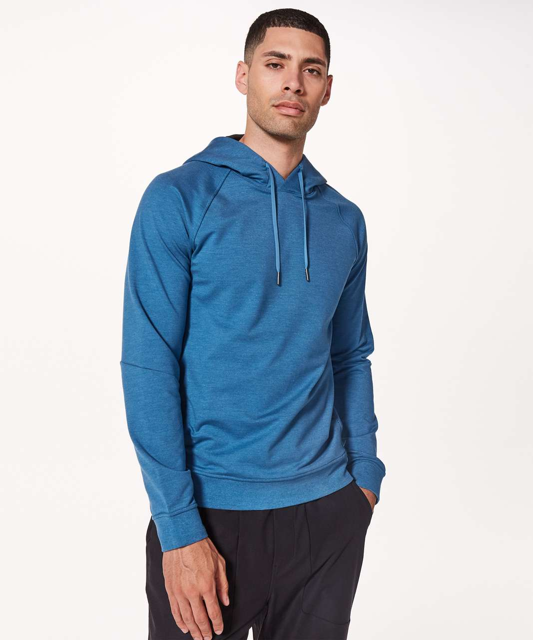 Lululemon City Sweat Pullover Hoodie - Heathered Pewter Blue