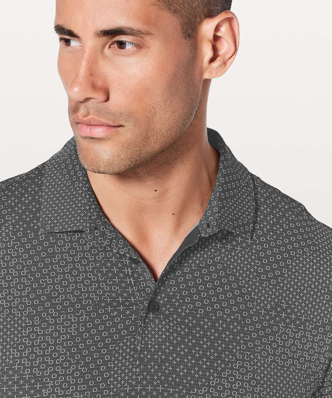 Lululemon Propel Polo - Stitch Camo Ice Grey Deep Coal