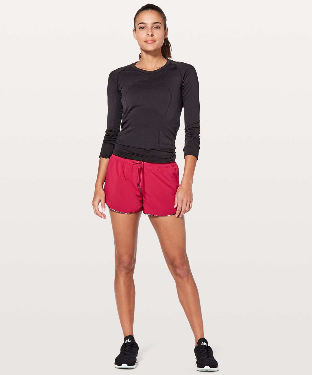 "Lululemon Choose A Side Short *3"" - Ruby Red / Zen Garden Multi"