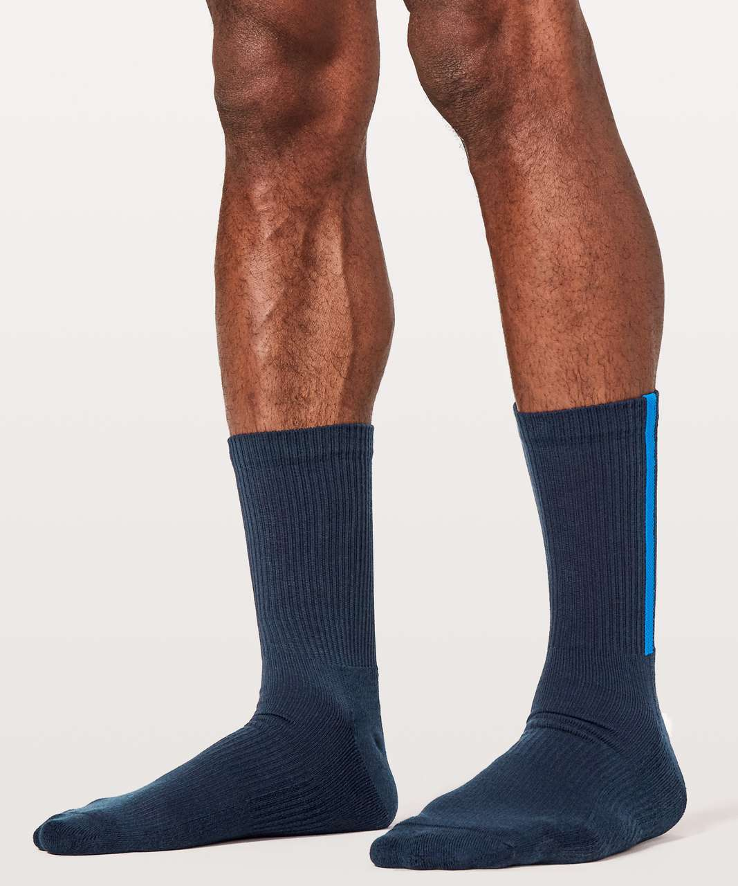 Lululemon Intent Crew Sock - True Navy / Shocking Blue