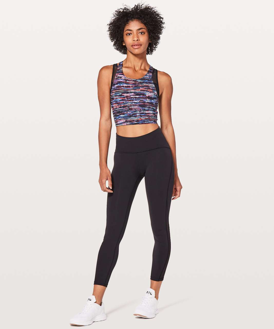 Lululemon Break Free Tank *Nulux - Hinshu Alpine White Multi / Black