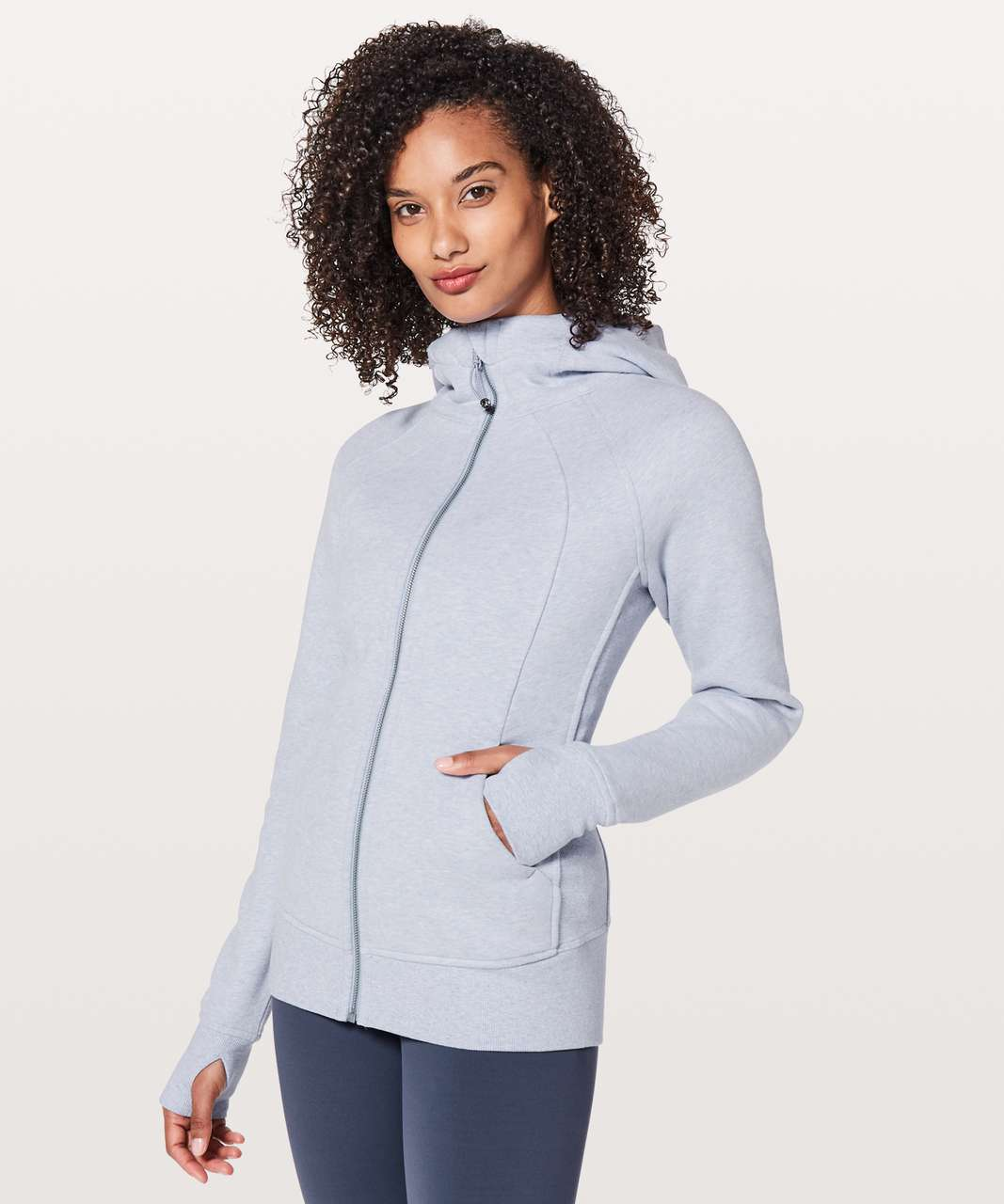 Lululemon Scuba Hoodie *Light Cotton Fleece - Heathered Berry Mist / Berry Mist