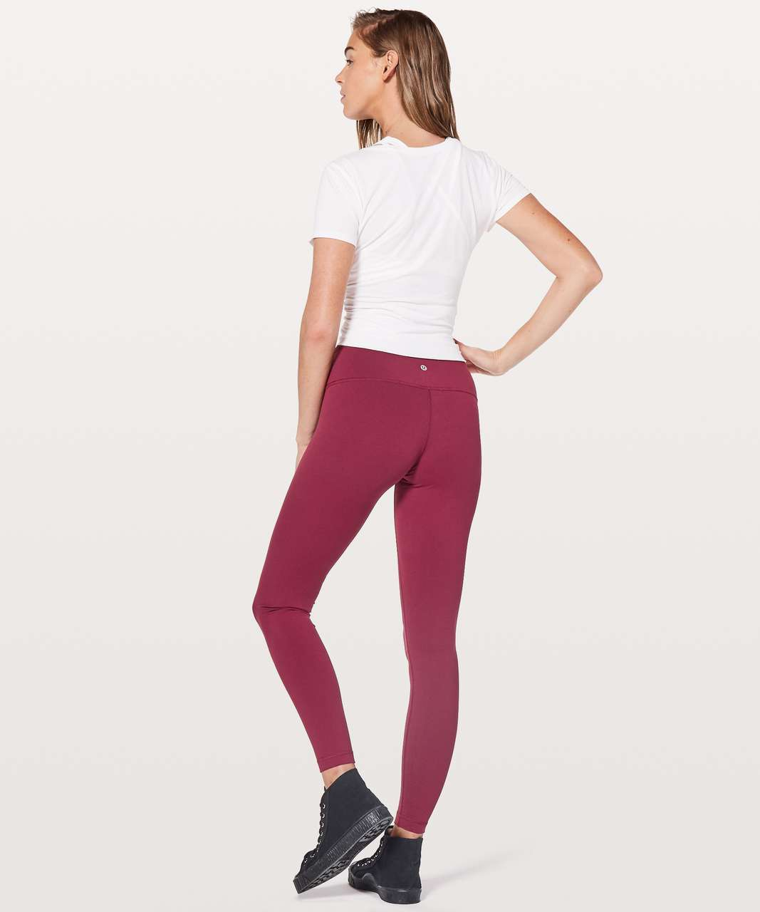 "Lululemon Wunder Under Low-Rise Tight *Full-On Luon 28"" - Ruby Wine"