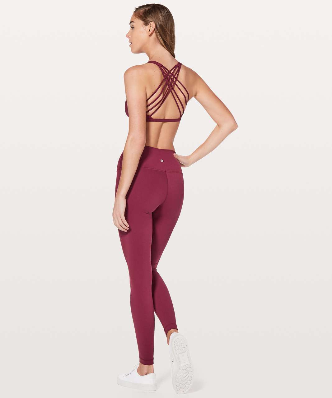 Lululemon Free To Be Bra (Wild) - Ruby Wine