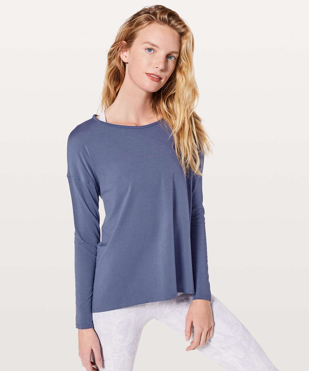 Lululemon Back Into It Long Sleeve - Moody Blues